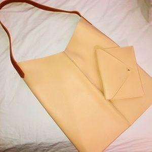 Handbags - Medium sized shoulder tote & envelope coin purse